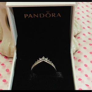 60%Off New Pandora Princess Wishbone Ring